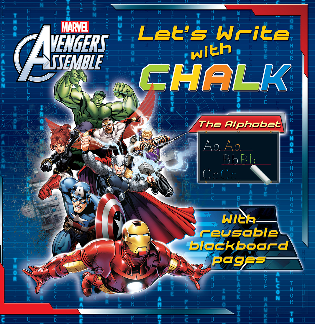 Avengers Let's Write with Chalk