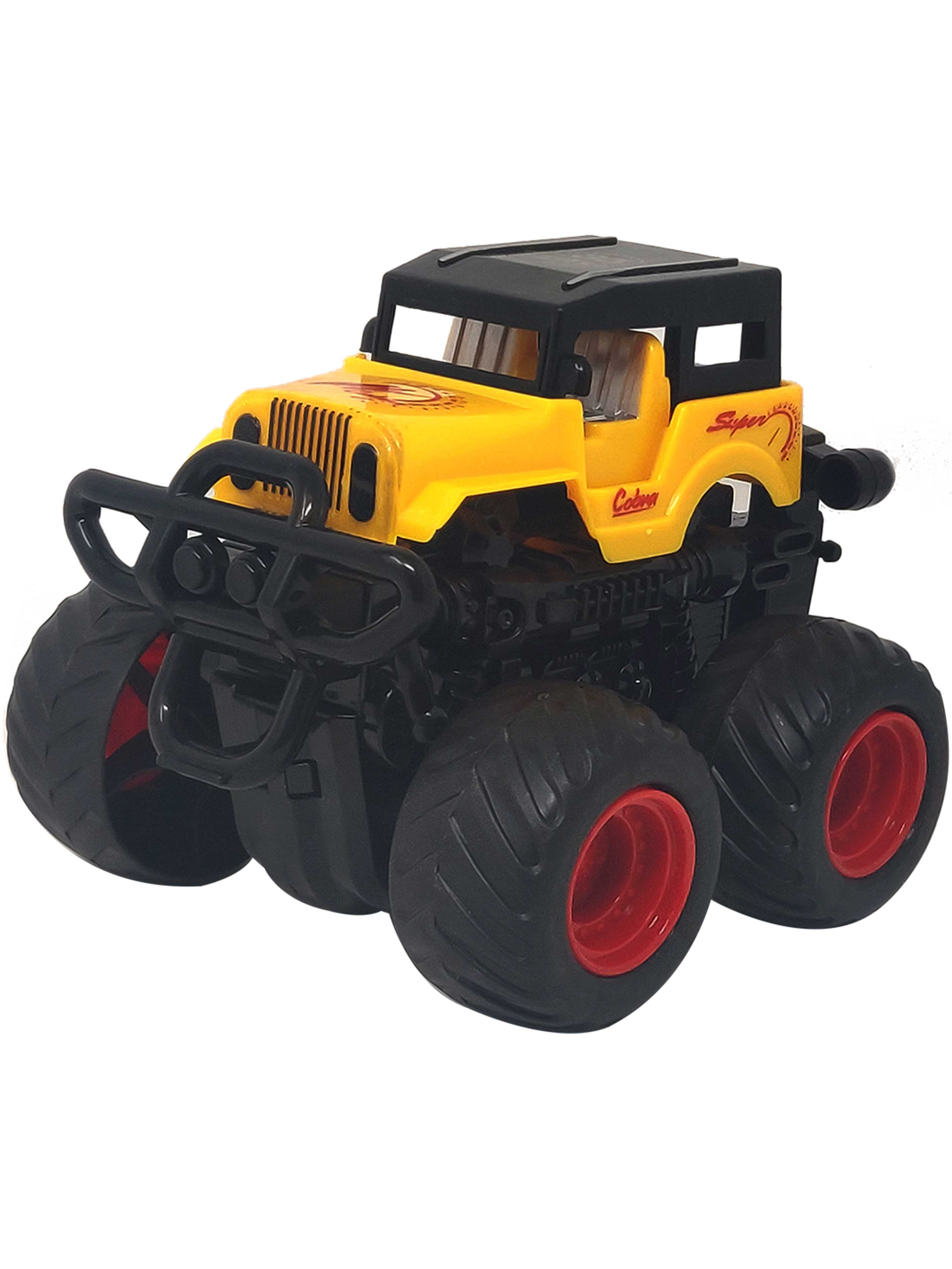 Friction Cars-Jeep-Yellow