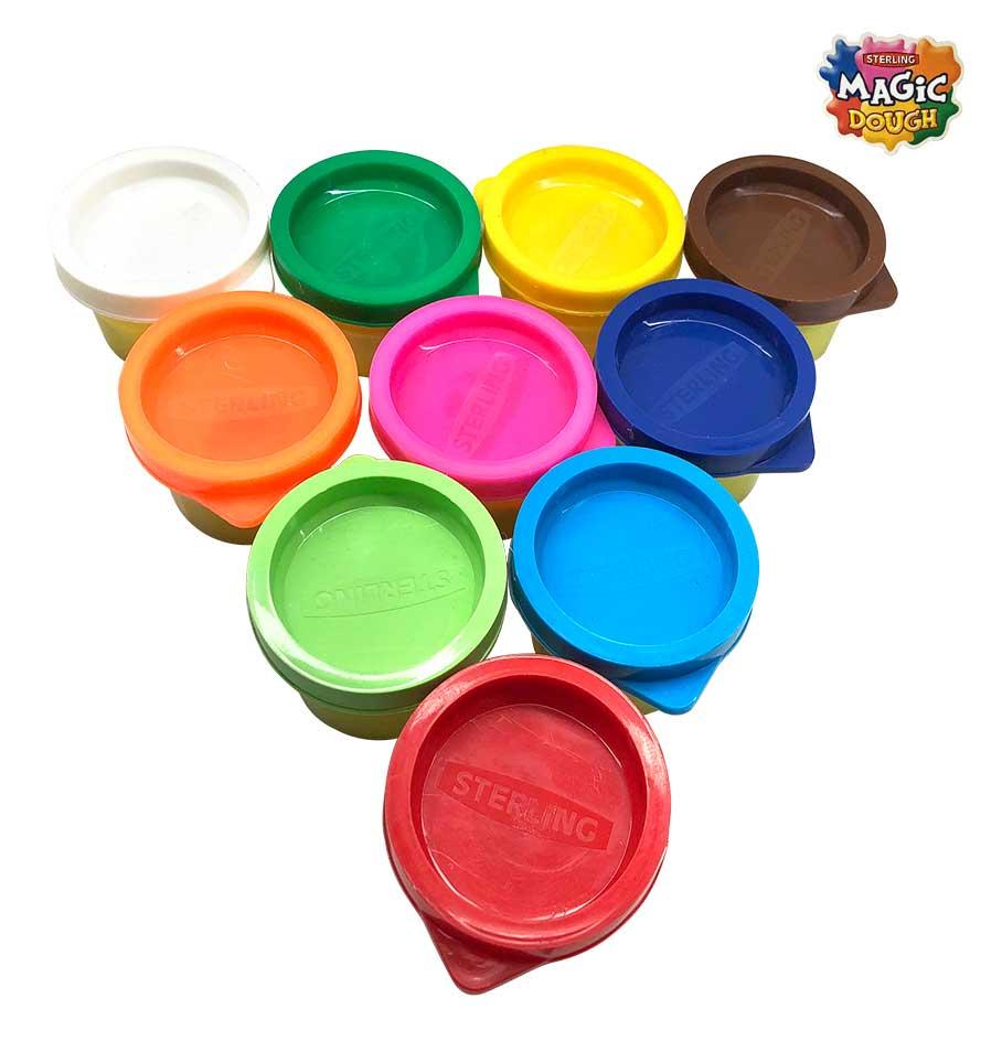 Magic Dough 10 Colours 250 gm