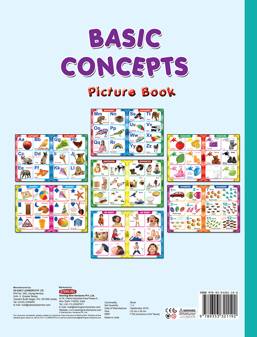Basic Concepts Picture Book
